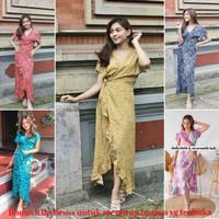 Longdress pantai bali /longdress kimono polos /baju santai bali - Foto display
