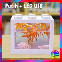 Aquarium Ikan Cupang Mini Lego LED Murah 12x8x10cm