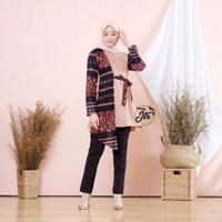 Baju atasan wanita terbaru tunik batik kombinasi