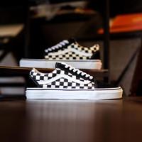 Sepatu Skate Original Vans Oldskool Primary Checkerboard Black White