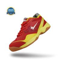 Sepatu Eagle Caliber Jr Merah/Kuning - Badminton Shoes