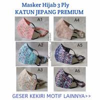 Masker kain 3 lapis / 3 ply motif bahan katun jepang