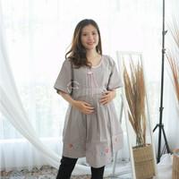 Baju Atasan Ibu Hamil Kerja JUMBO Blouse Polos Casual Katun - BHJ 101