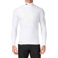 Baju Daleman Kaos Olahraga Baselayer Manset Futsal Bola Gym Unisex - Putih