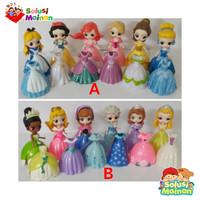 Mainan Anak Perempuan Figur Princes Putri Clip On Gawn Bisa Ganti Baju