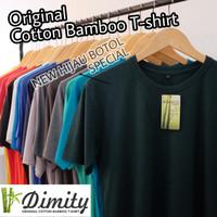 Kaos Polos cotton bamboo SUPER ADEM katun bambu Cotton Bamboo T-SHIRT