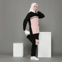 Setelan baju olahraga wanita muslimah training senam yoga zumba Vira - M