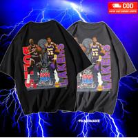 T SHIRT KAOS OVERSIZE CHICAGO BULLS LAKERS NBA CHAMPIONS VINTAGE