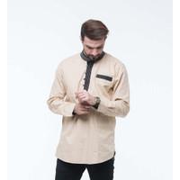 Baju Koko Latahzan Coklat Tersedia 5 Warna Keren Dan Adem Saat Dipakai - Cokelat, S