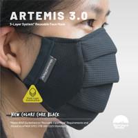 [CORE BLACK] ARTEMIS 3.0 | Triple Layer System | Masker 3 Lapis