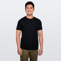 Kaos Polos Buffalo T-Shirt - Hitam - F030003