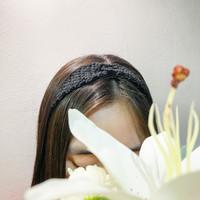 Twisted Headband Crochet / Headband / Bando Wanita / Bandana - Hitam
