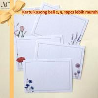 (isi 5) Kartu Ucapan Kosong 10x7 cm Multipurpose Card Flower Series
