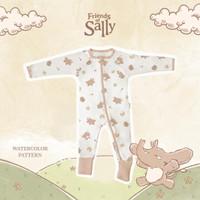 Friends of Sally - Bamboo Baby Jumpsuit Sleepsuit Kimono Baju Tidur
