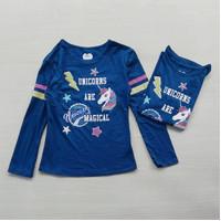 Baju kaos panjang anak perempuan brand ori garanimals navy unicorn