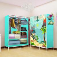 lemari pakaian / merek TRI J Rak Baju Medium Motif 2 Sisi