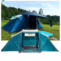 Tenda Keluarga / Tenda Arpenaz 4.2 Family Blue Grey - 2165272 Quechua