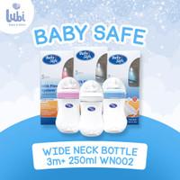 BABY SAFE BOTTLE WIDE NECK MILK FLOW SYSTEM 0M+ 250 Ml WN002
