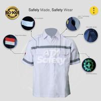 Wearpack Safety Baju Kerja Lapangan Lengan Pendek Merk ATX Putih