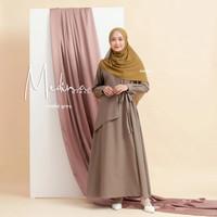 Baju Muslim gamis wanita terbaru Original Naisha Kualitas Premium - Smoke Grey, AS