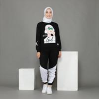setelan baju olahraga wanita muslimah training senam yoga zumba RIRI - M