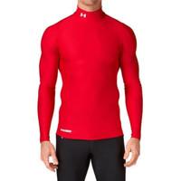Baju Daleman Kaos Baselayer Manset Olahraga Futsal Bola Gym Unisex - Merah