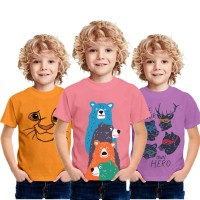 Baju Anak Laki Laki Motif Hewan   usia1 2 3 4 5 6 7 8 9 10 Tahun