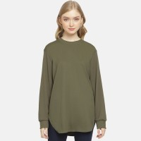 Anakara Atasan Wanita Basic Tunik T-shirt Olive - Green
