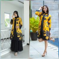 Dress Batik Fashion Pekalongan 2 - Kuning, XL