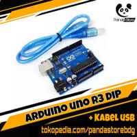 Promo Arduino Uno R3 DIP ATmega328P bonus Kabel Data USB