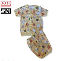 Baju bayi tokusen SML umur di atas 6 bulan setelan pendek