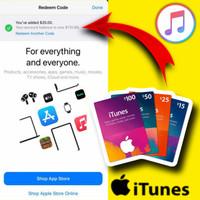 Apple iTunes gift card usd US 10 20 25 50 100 $
