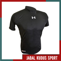 Baju Kaos Manset Baselayer Daleman Olahraga Lengan Pendek Futsal Bola