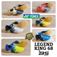 NEW !! SEPATU BADMINTON SEPATU YONEX LEGEND KING 68 ORIGINAL - Gray Orange, 44 - 28 cm