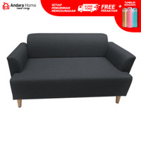Sofa Andara Osaka 2 Seater - Abu-abu