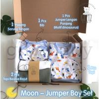 GlitzBaby Newborn Hampers Bayi Kado Lahiran Gift Set - Moon Jumper