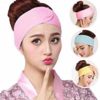 Bandana mandi polos -Facial Headband/Bando Masker Handuk