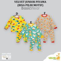 Velvet Junior Setelan Piyama Panjang Bayi Ukuran S M L LL XL XXL