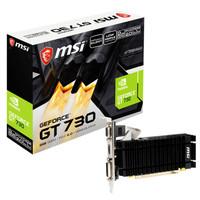 MSI GEFORCE GT 730 BLACK PCB 2048MB 2GB DDR3 64BIT N730K 2GD3H/LPV1