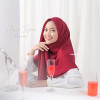 jilbab segiempat By Naisha Bahan Diamond crepe