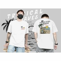 Kaos Pria Distro Premium Tropical Waves Shirt Men