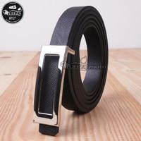 Ikat Ban Pinggang Wanita Cantol Fashion Kulit PU Women Belt 05 1.5cm - Hitam, Panjang 115cm