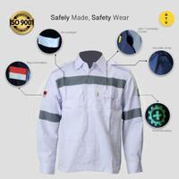 Wearpack Safety Baju Kerja Lapangan Lengan Panjang Merk ATX Putih