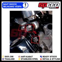 Baut Shock Breaker Vespa Modern Probolt Stainless King Nut Thailand