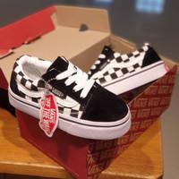 Sepatu Anak Vans Old skool Catur black white tali