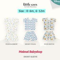 Little Palmerhaus Little Wear Short Sleeve / Setelan Piyama Bayi