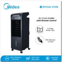 Midea Air Cooler 6.0 Liter AC100-A - Remote Control - Timer 7 jam - Hitam