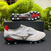 Sepatu Bola Mizuno Neo Morelia III Leather White Black FG