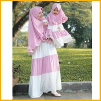 Gamis Couple Ibu Bayi Dan Anak Anaya Baju Sarimbit Baju Muslim Couple