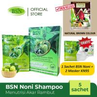 BSN Noni shampo menutrisi akar rambut isi 5 sachet bonus rambut hitam